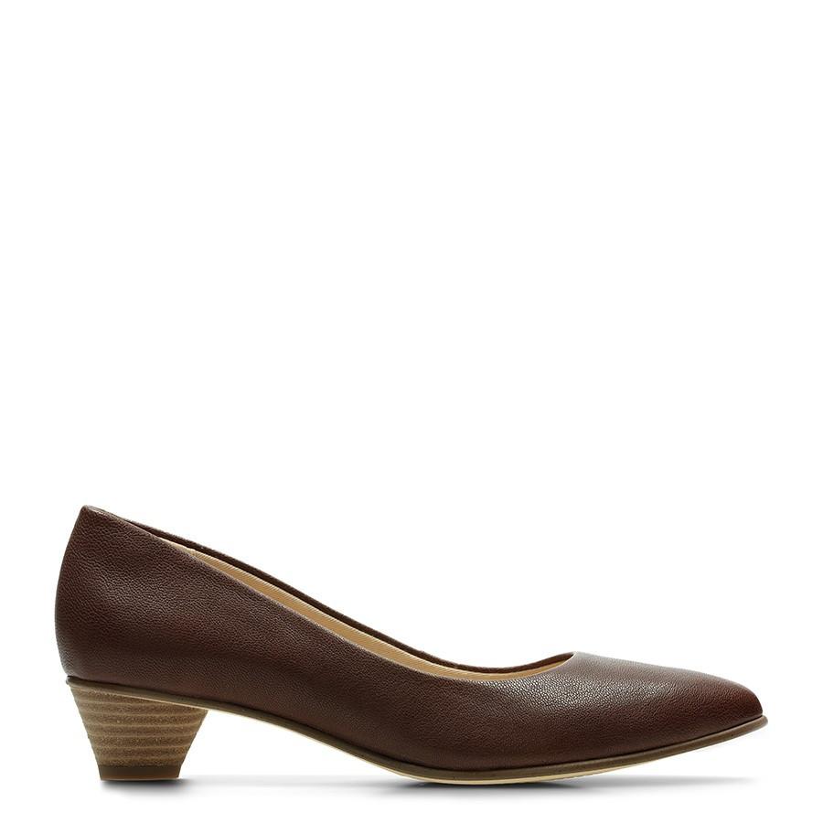Clarks Mena Bloom Tan Leather