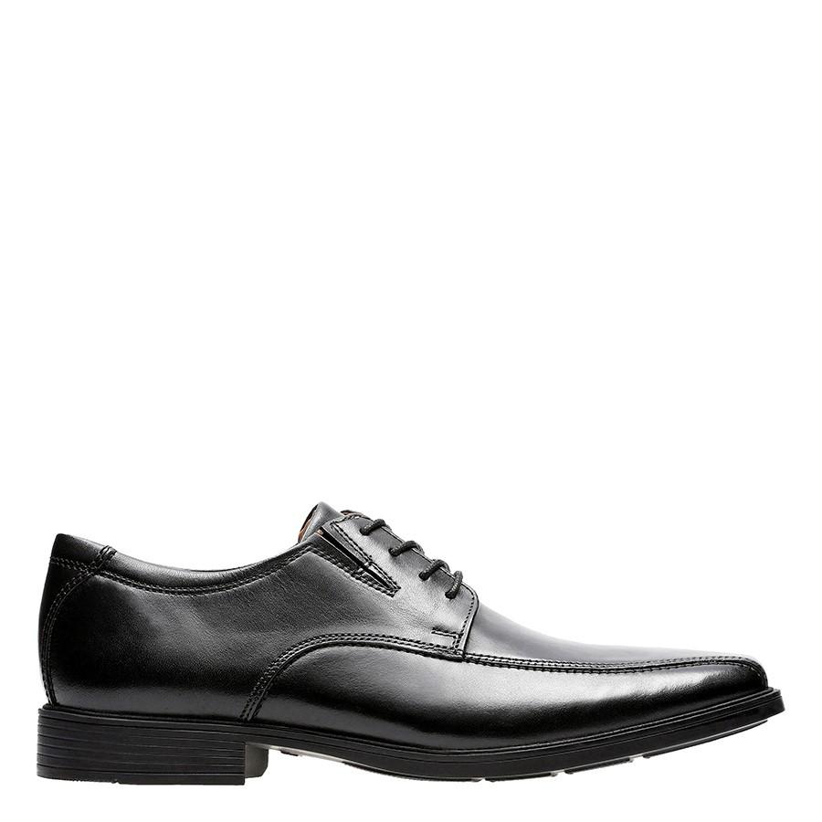 Clarks Tilden Walk Black Leather