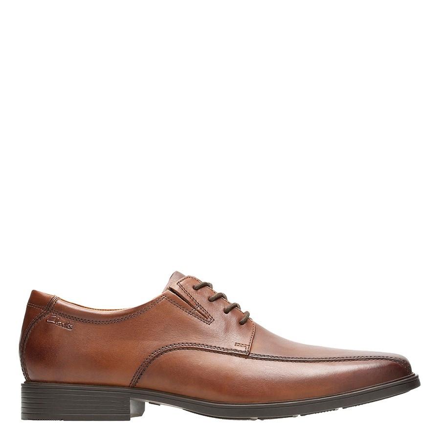 Clarks Tilden Walk Dark Tan Leather
