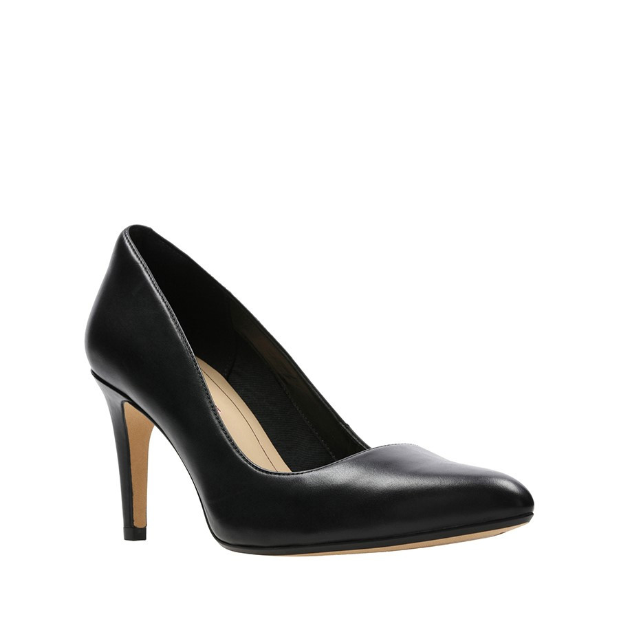 Clarks Laina Rae Black Leather