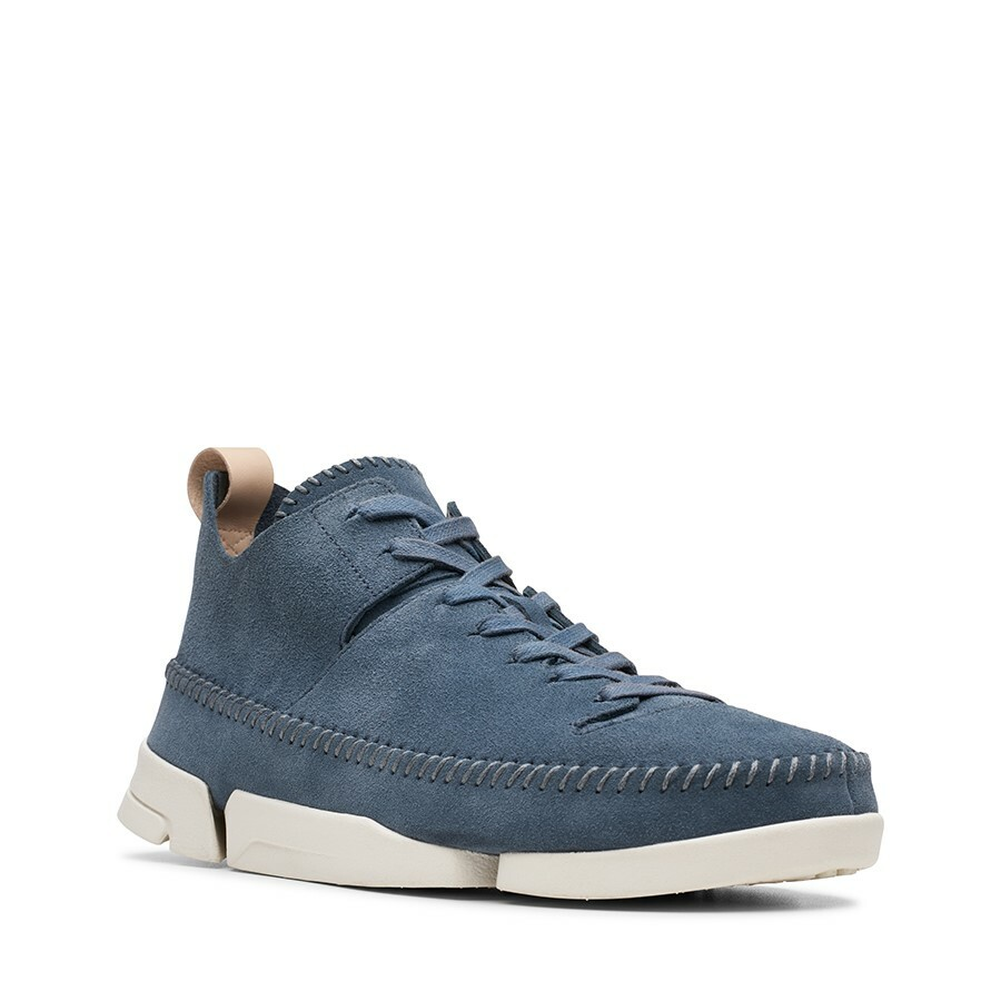 Clarks Trigenic Flex Deep Blue Suede