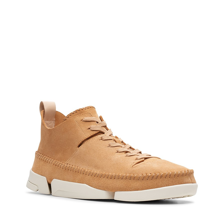 Clarks Trigenic Flex Light Tan Suede