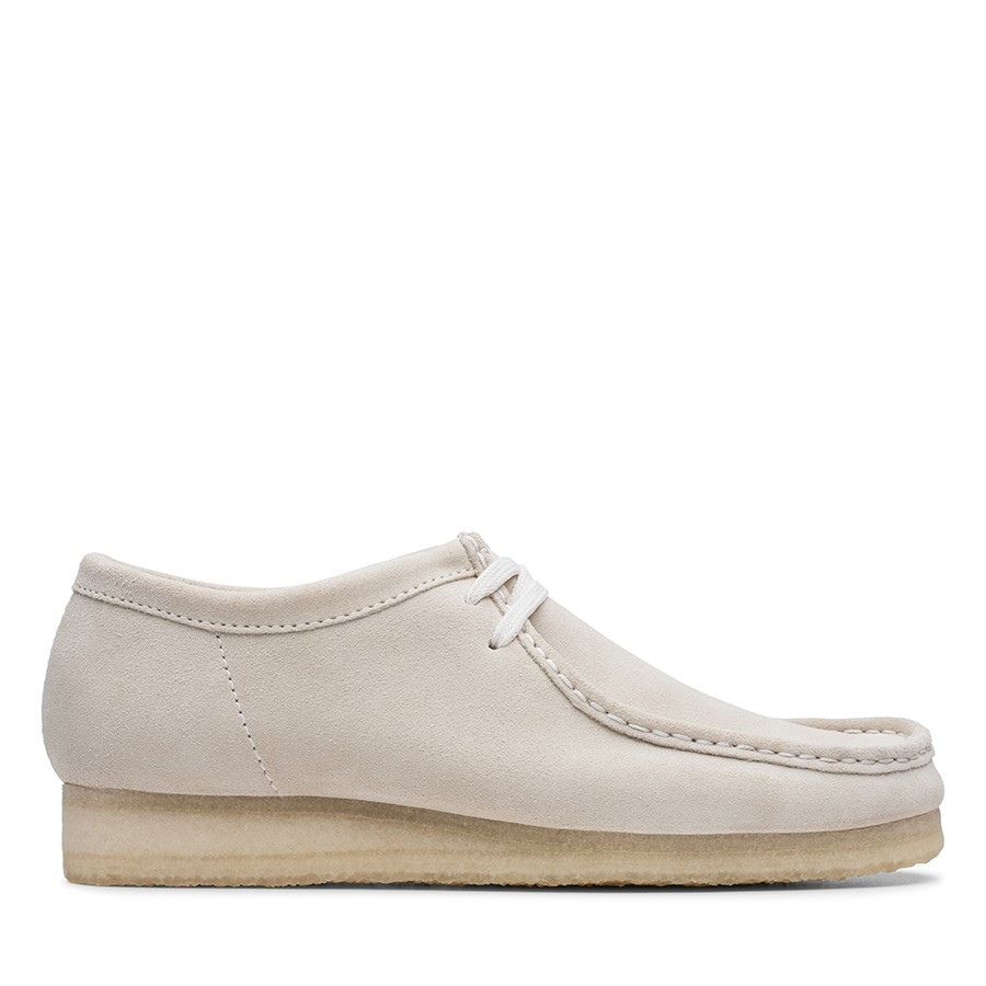 Clarks Wallabee 2 Mens Off White Suede