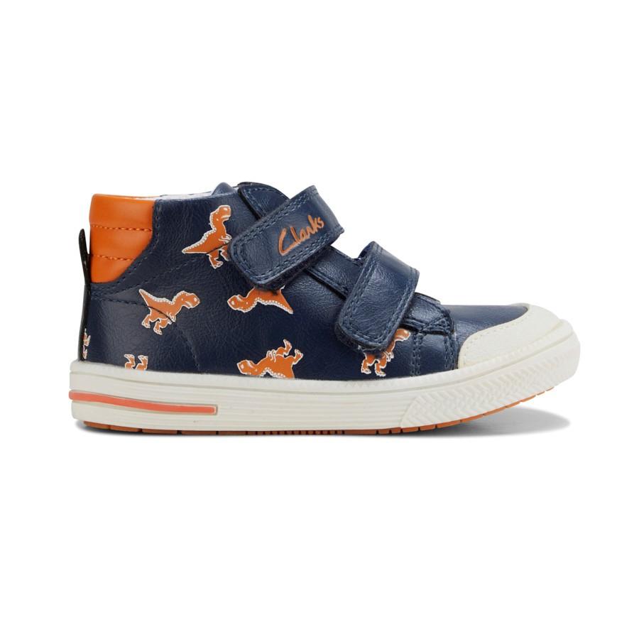 Clarks Barney Navy/Orange