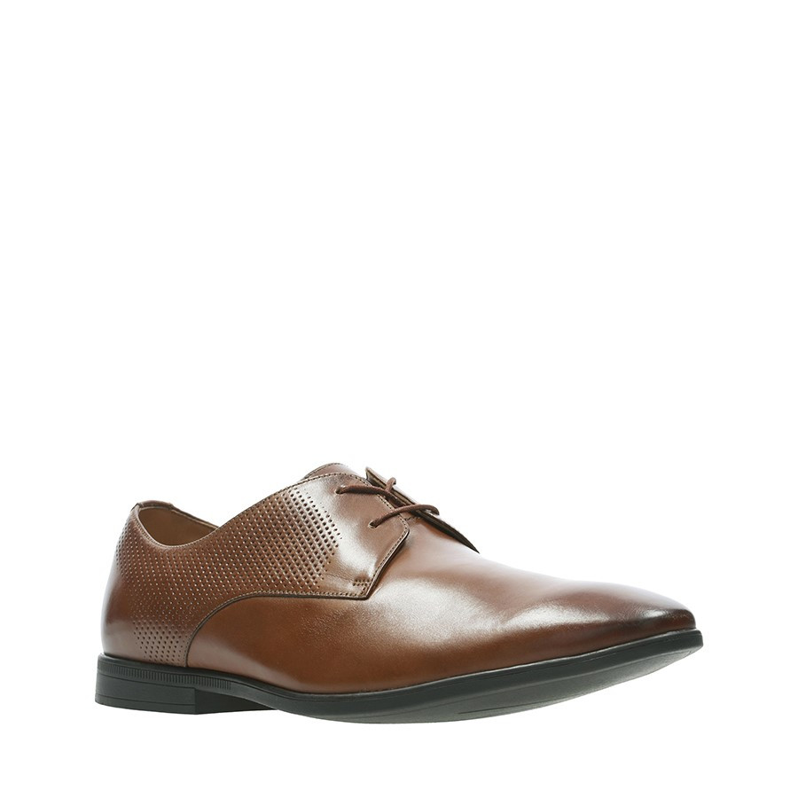 Clarks Bampton Walk British Tan Leather
