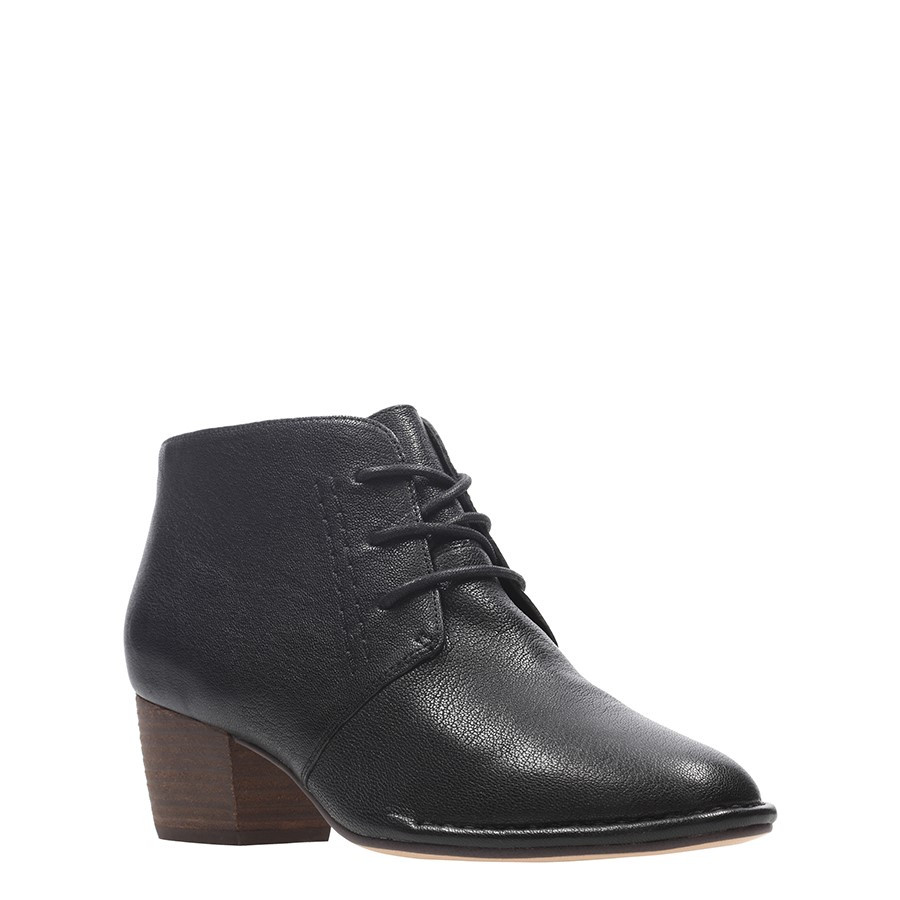 Clarks Spiced Charm Black Leather