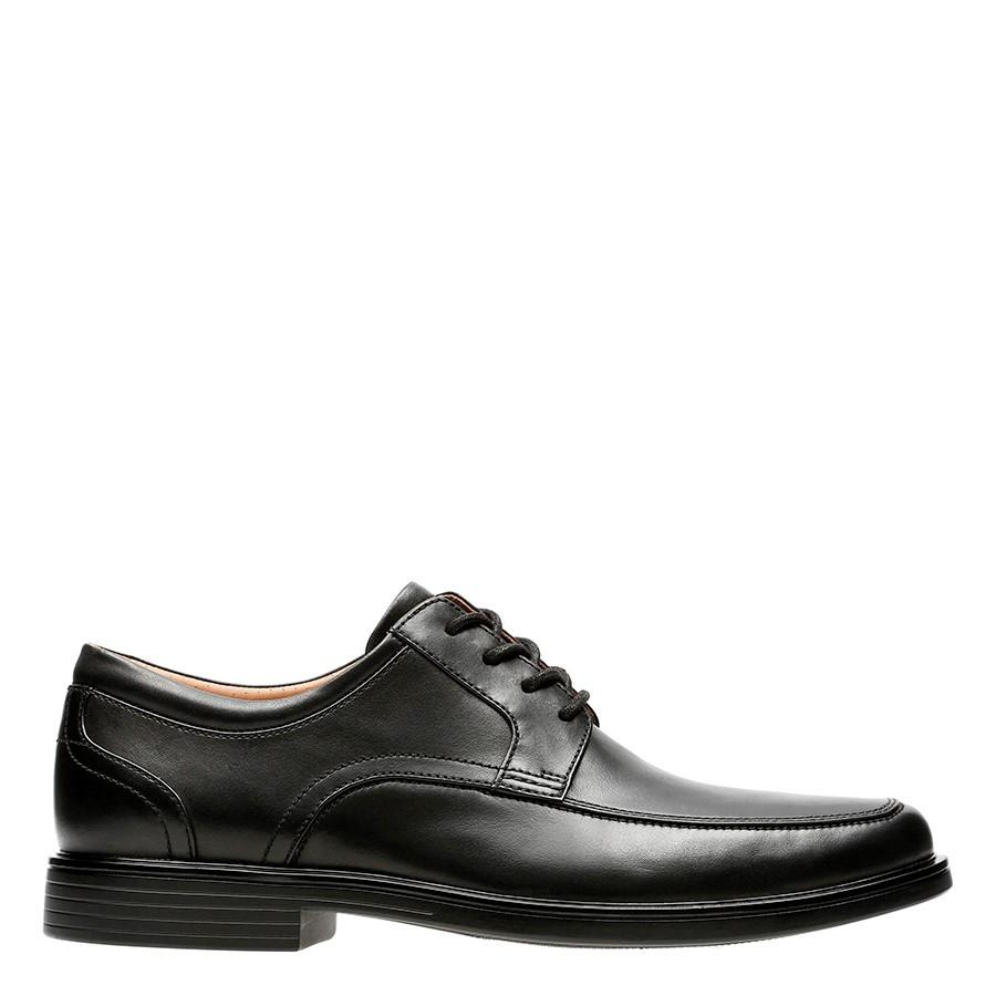 Clarks Un Aldric Park Black Leather