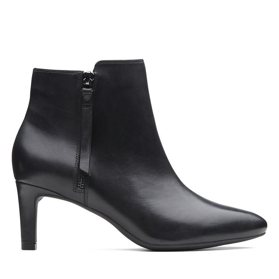 Clarks Calla Blossom Black Leather