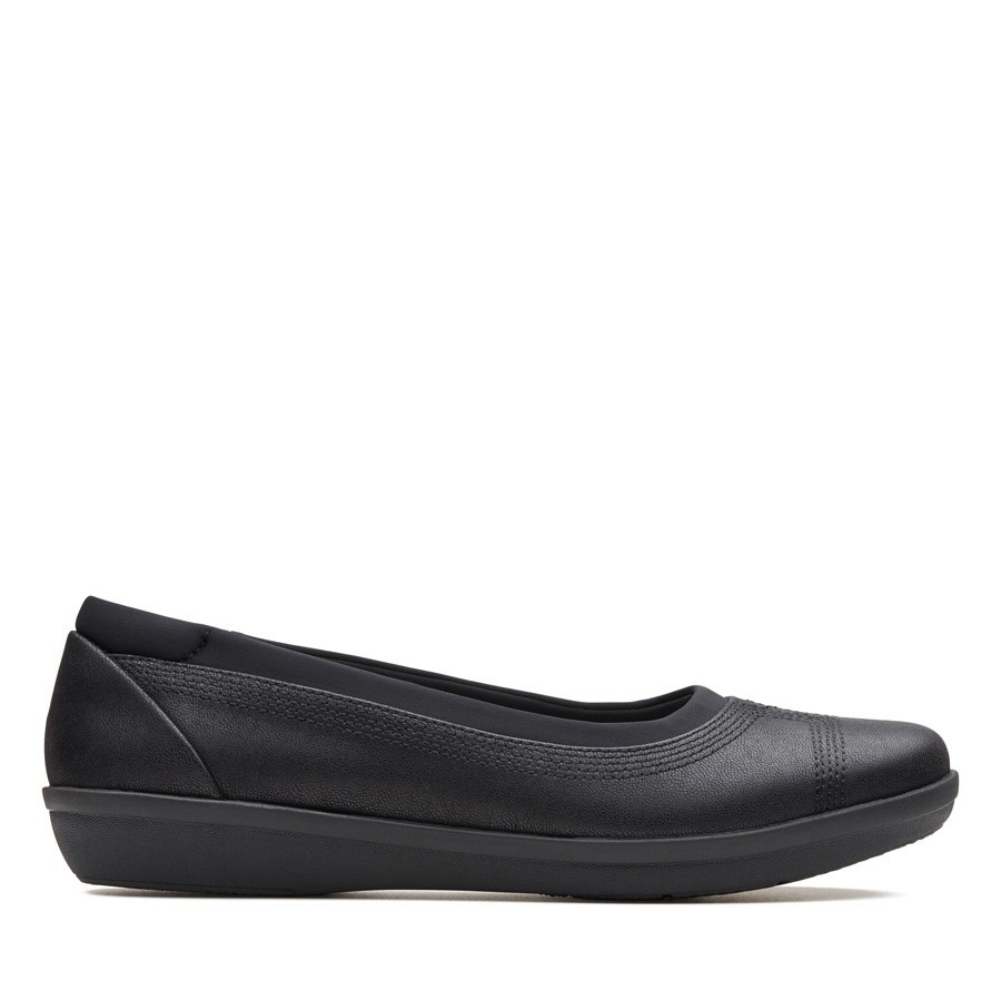 Clarks Ayla Low Black Synthetic