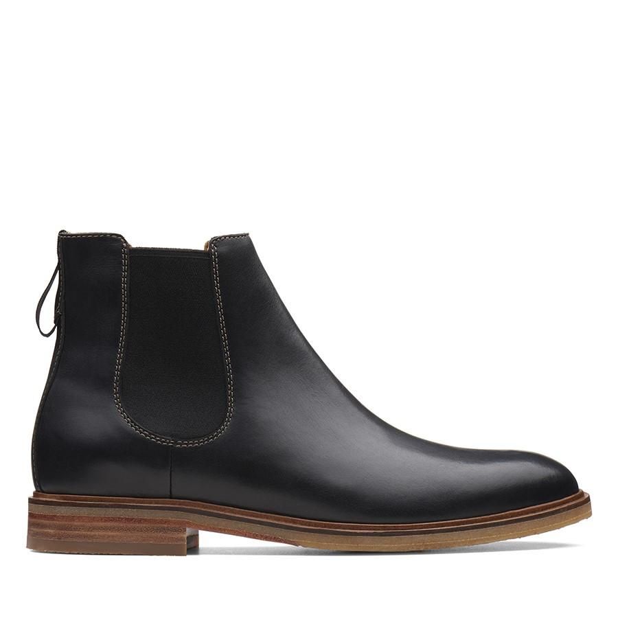 Clarks Clarkdale Gobi Black Leather
