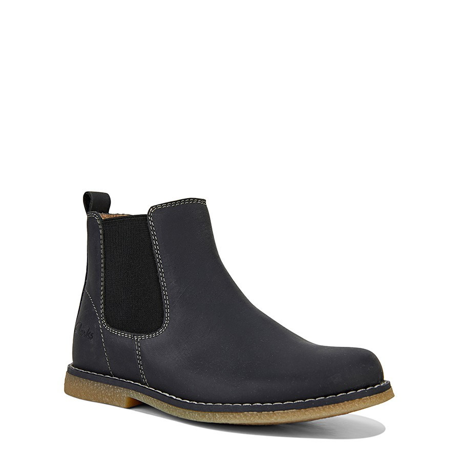 Clarks Chelsea Inf Black Crazy Horse