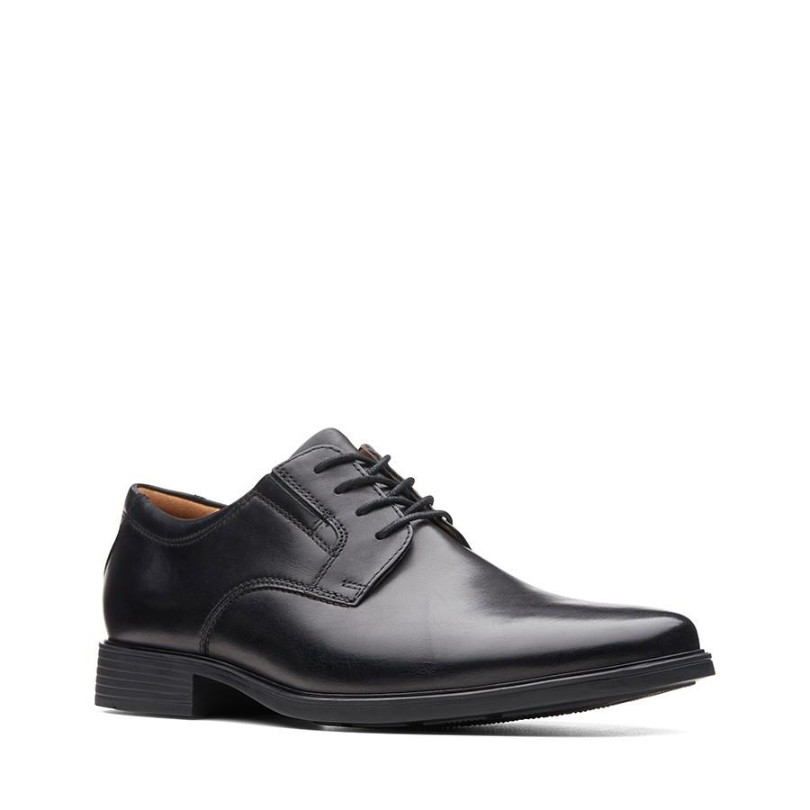 Clarks Tilden Plain Black Leather