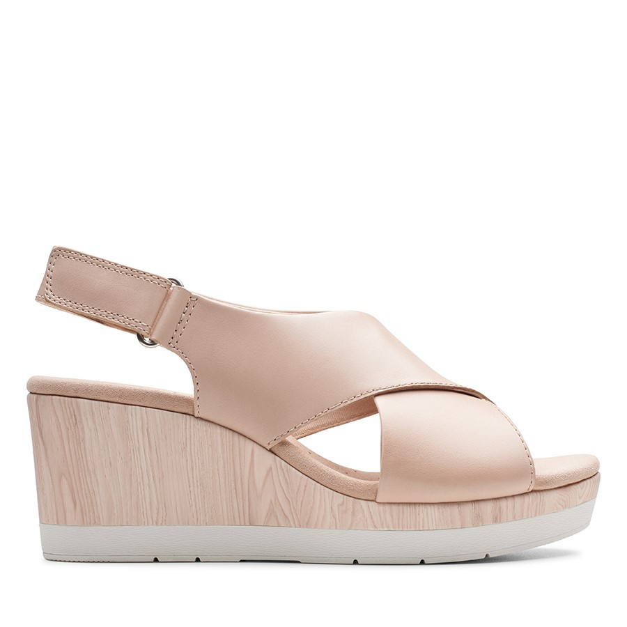 Clarks Cammy Pearl Nude Leather