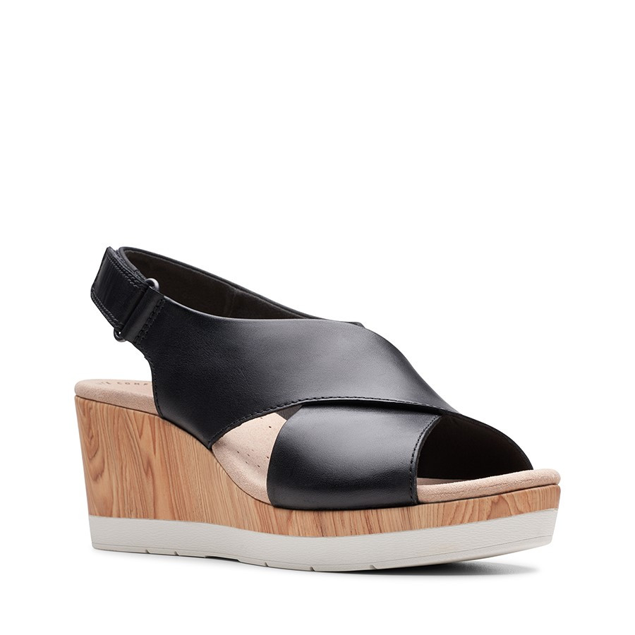 Clarks Cammy Pearl Black Leather
