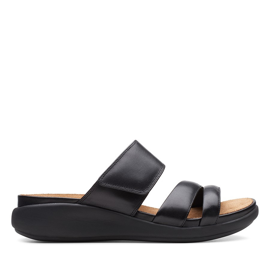 Clarks Un Bali Way Black Leather