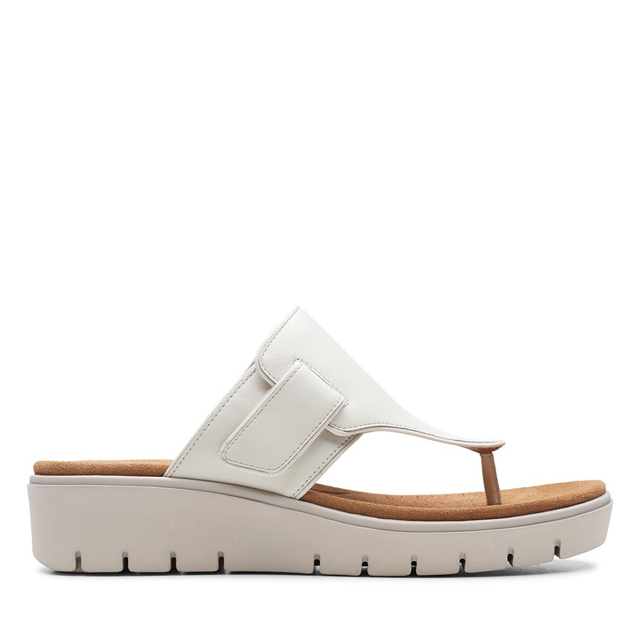 Clarks Un Karely Sea White Leather