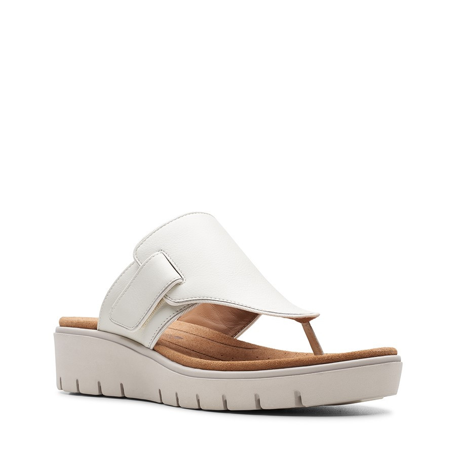 Clarks Un Karely Sea White Leather
