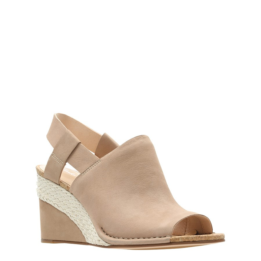 Clarks Spiced Bay Nude Leather