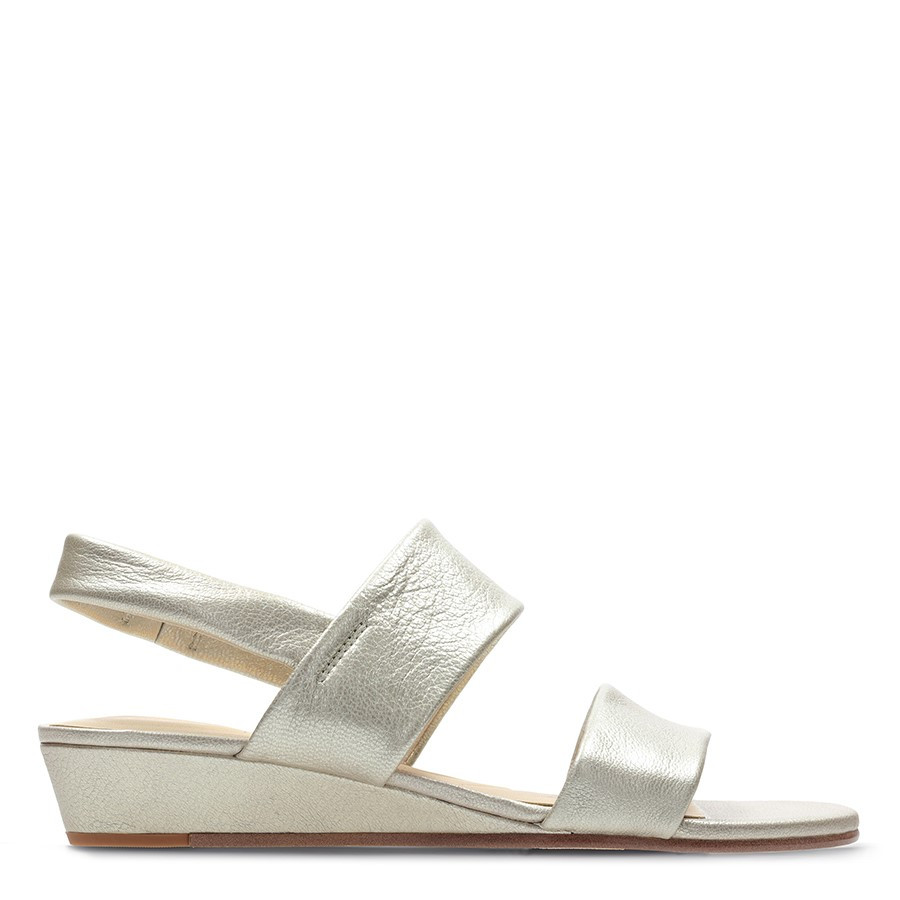 Clarks Sense Lily Champagne Leather