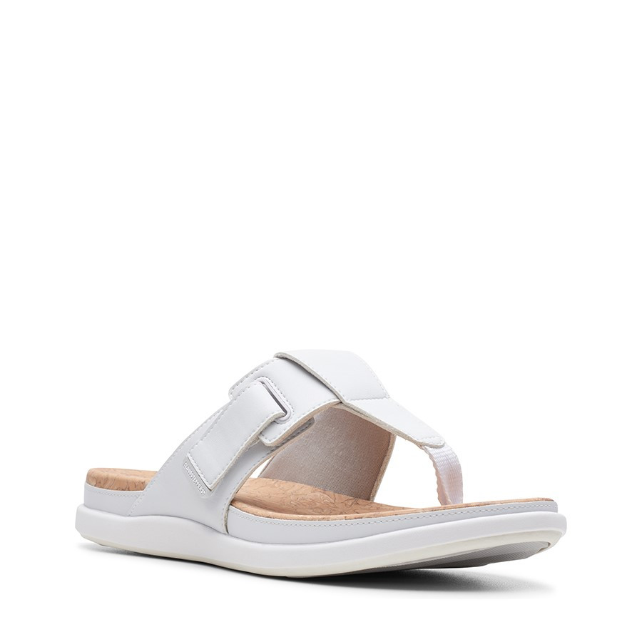 Clarks Step June Reef White Synthetic