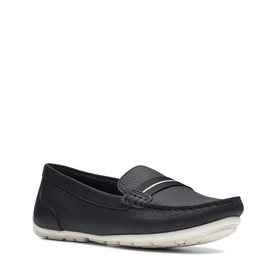 Clarks Dameo Vine Black Leather