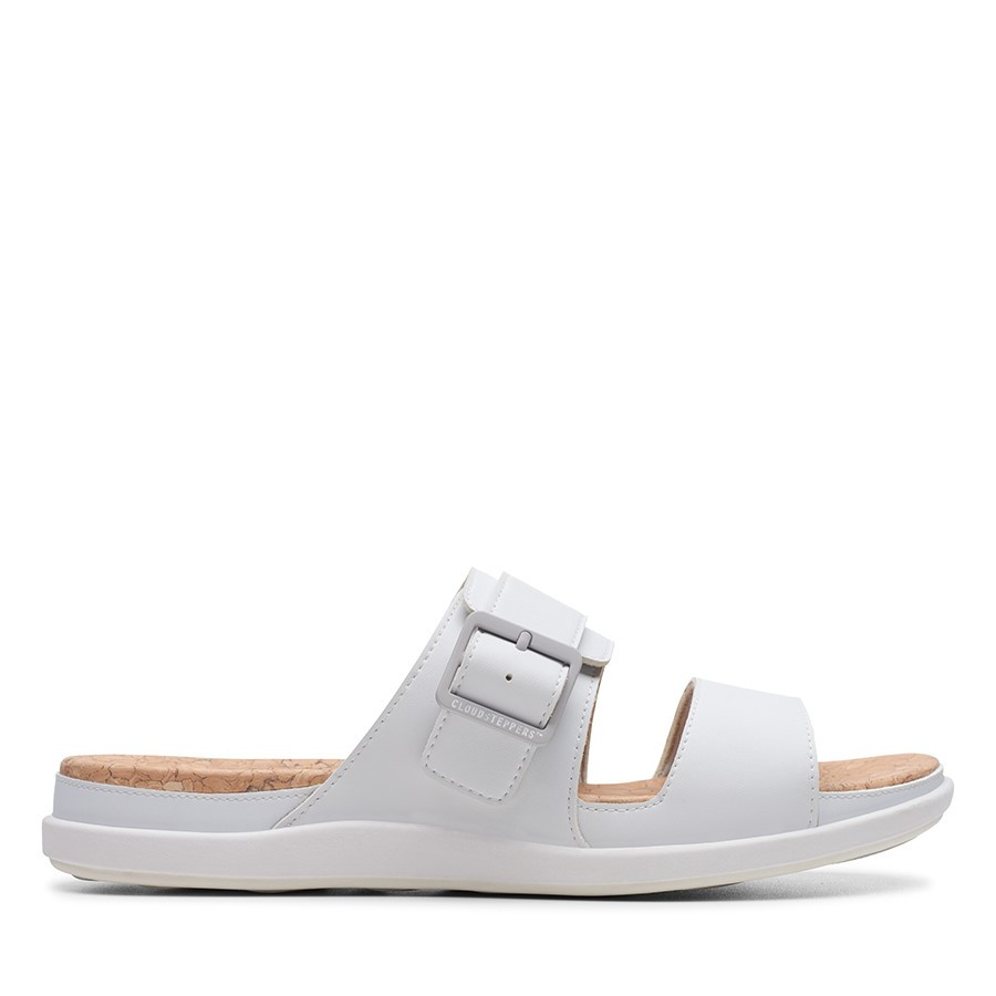 Clarks Step June Tide White Synthetic