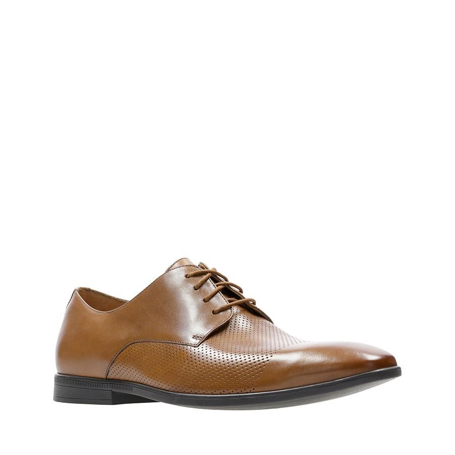 Clarks Bampton Cap Tan Leather
