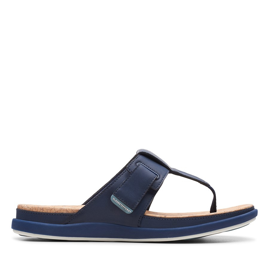 Clarks Step June Reef Navy Synthetic