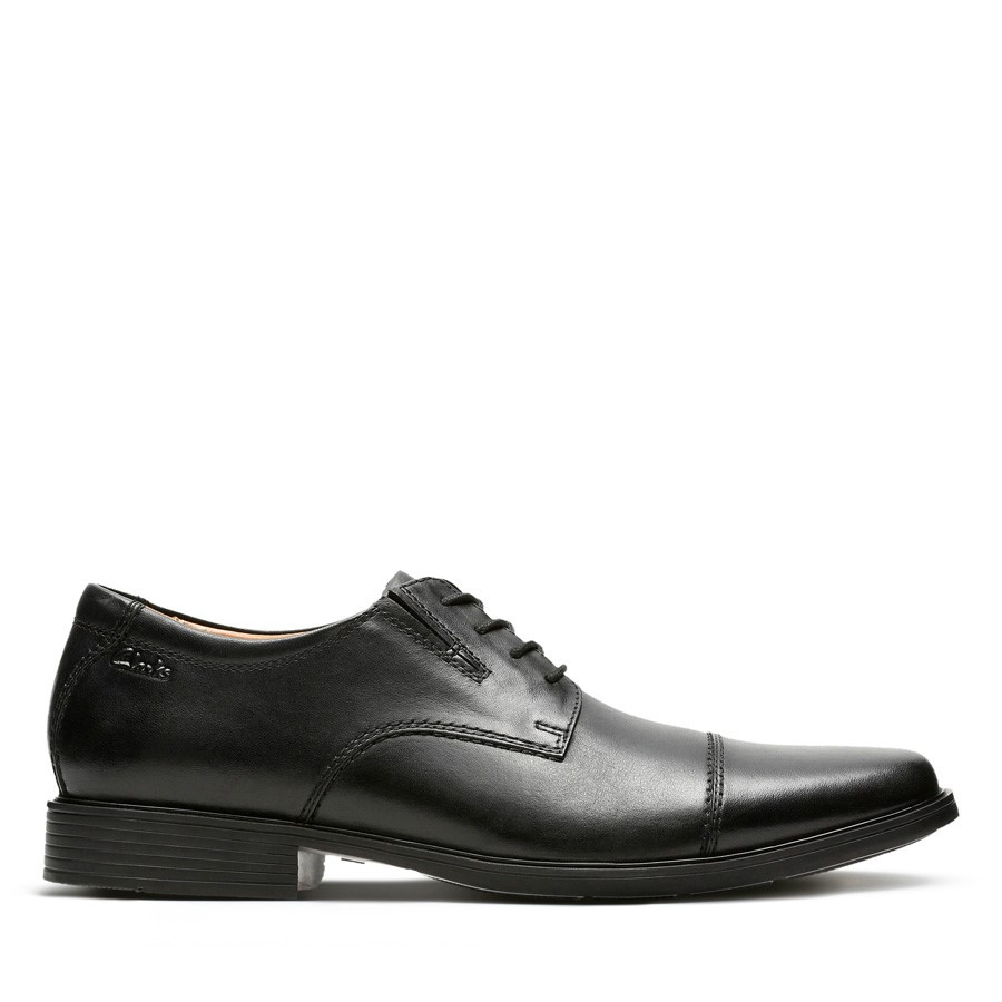 Clarks Tilden Cap Black Leather