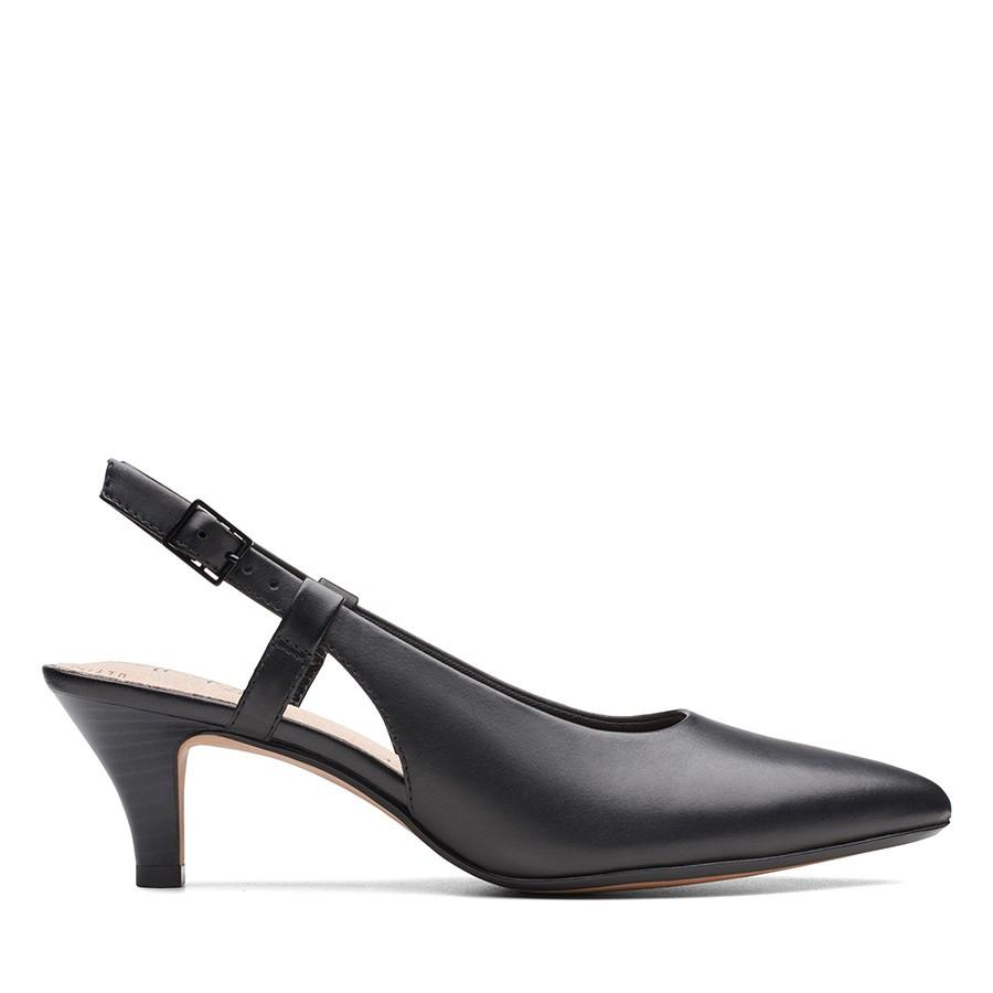 Clarks Linvale Loop Black Leather