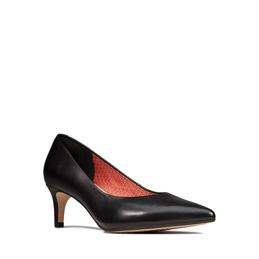 Clarks Laina55 Court Black Interest Leather