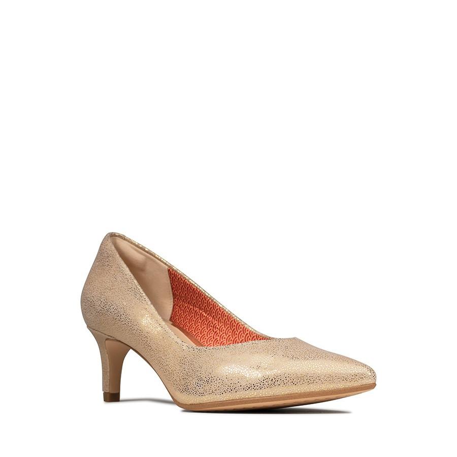 Clarks Laina55 Court Gold Metallic