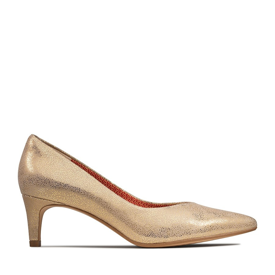 Clarks Laina55 Court Gold Metallic