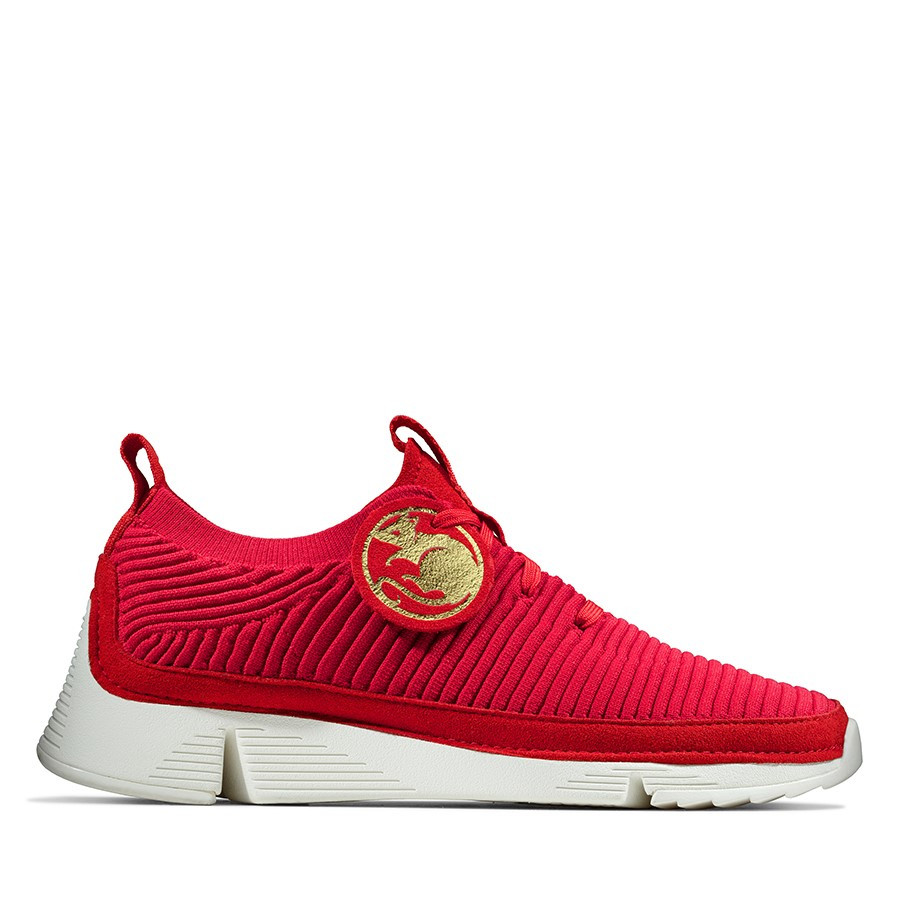 Clarks Tri Knit Red Knit