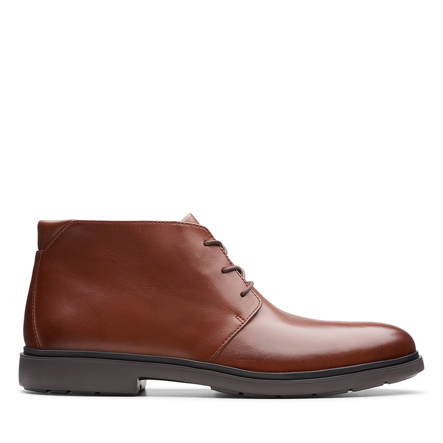 Clarks Un Tailor Mid Tan Leather