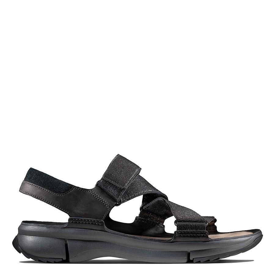 Clarks Tri Ease Black Interest Leather