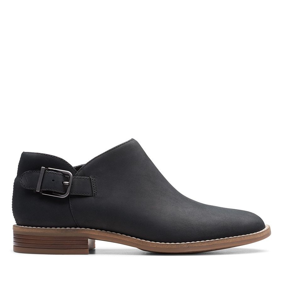 Clarks Camzin Pull Black Leather