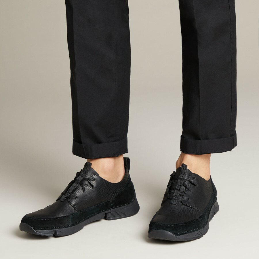 Clarks Tri Solar Black Leather