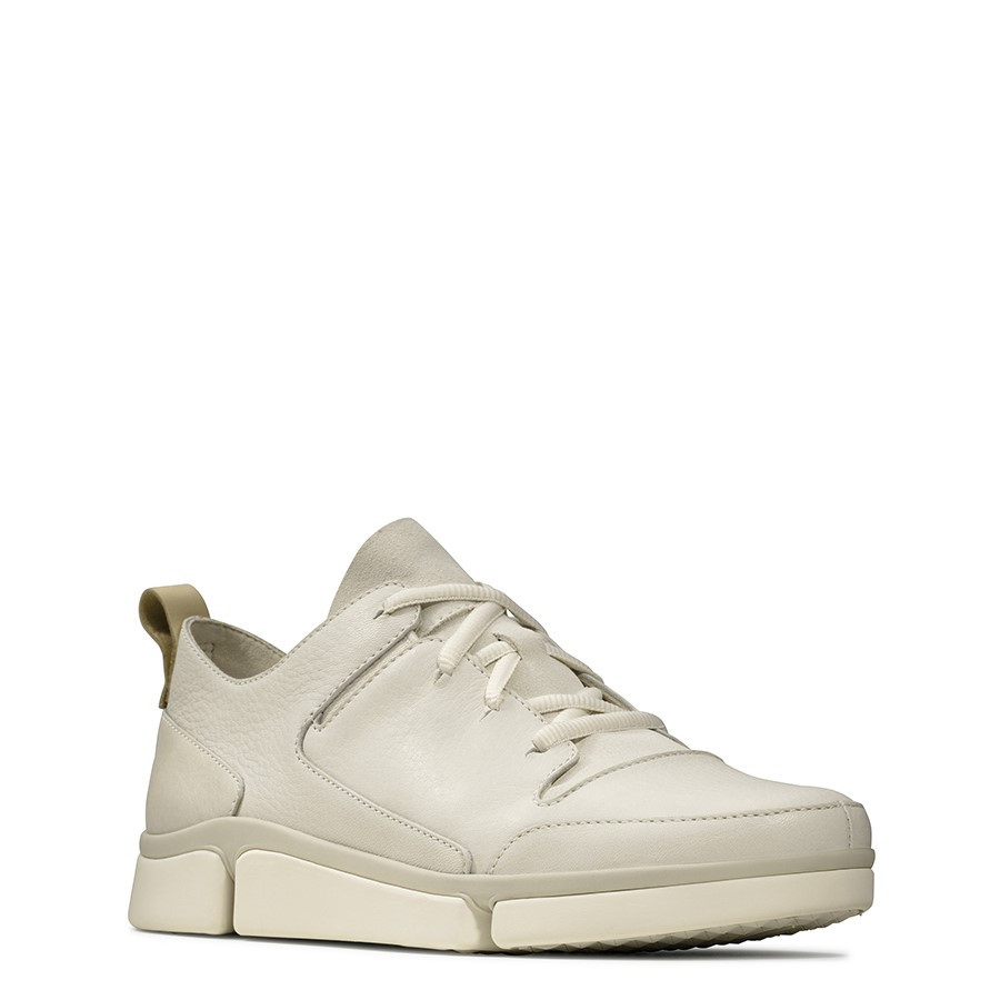 Clarks Tri Turn White Leather