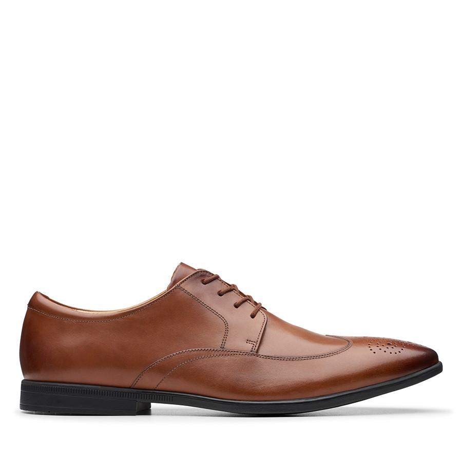Clarks Bampton Wing Tan Leather