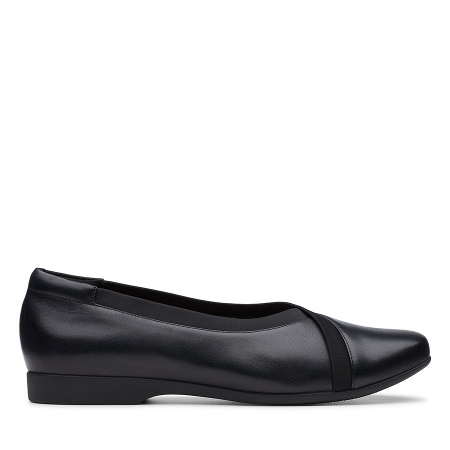 Clarks Un Darcey Ease Black Leather
