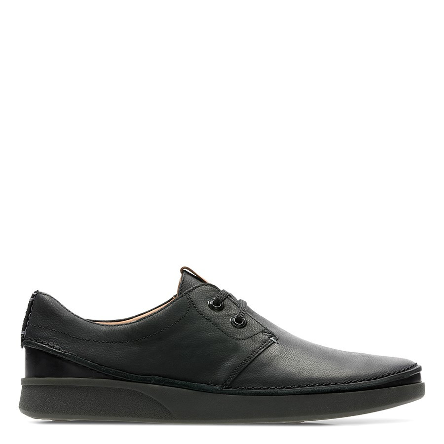Clarks Oakland Lace Black Leather