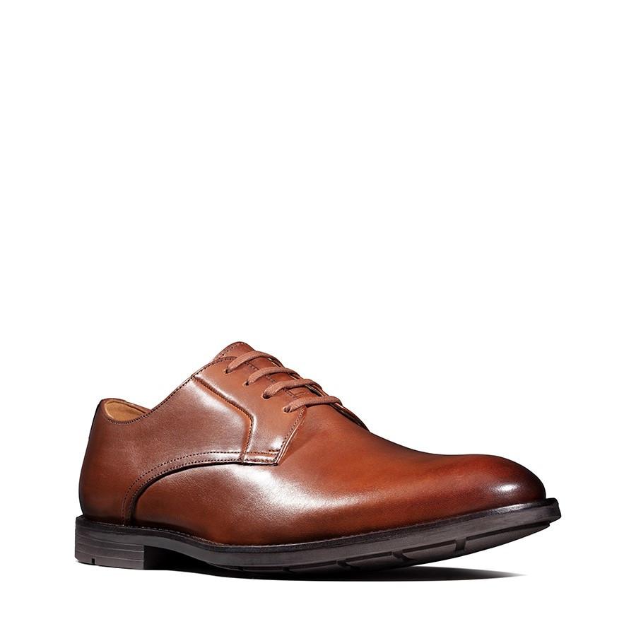 Clarks Ronnie Walk British Tan Leather