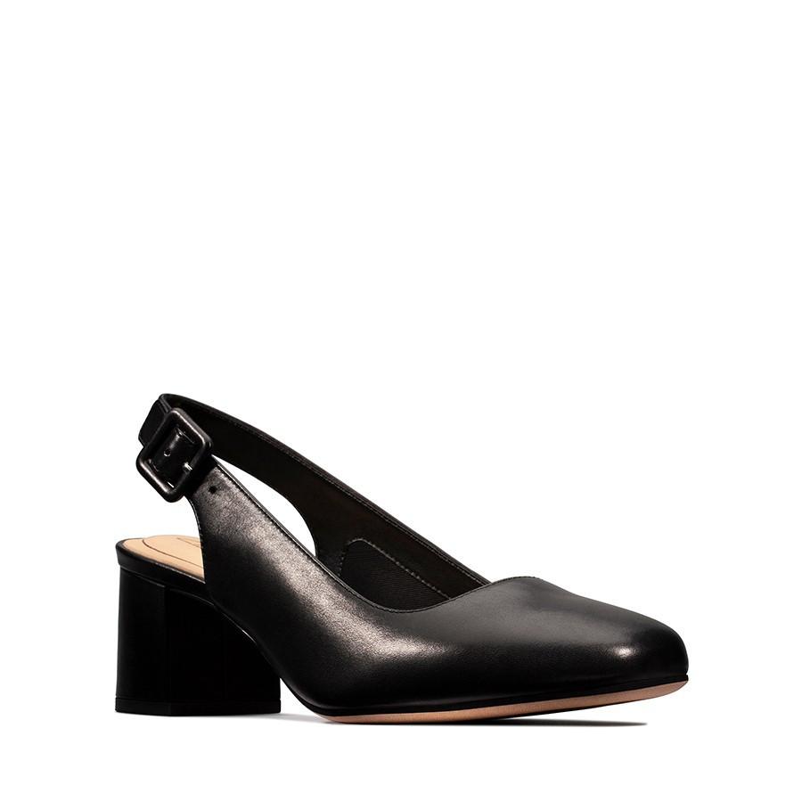 Clarks Sheer Violet Black Leather