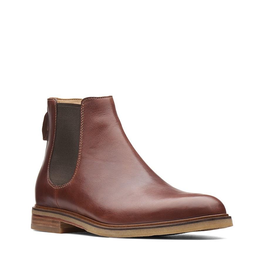 Clarks Clarkdale Gobi Mahogany Leather