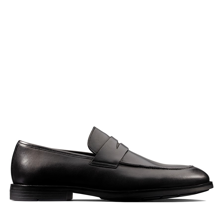 Clarks Ronnie Step Black Leather