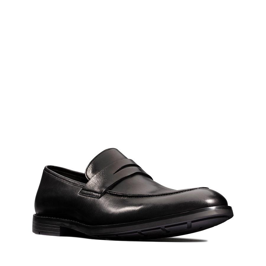 Clarks Ronnie Step Black Leather