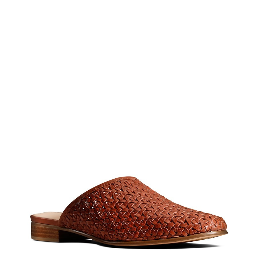 Clarks Pure Blush Tan Weave