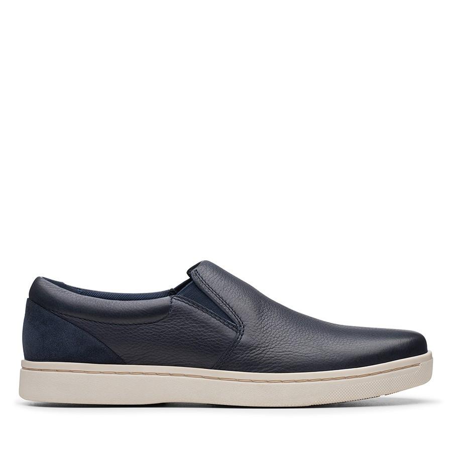 Clarks Kitna Free Navy Leather