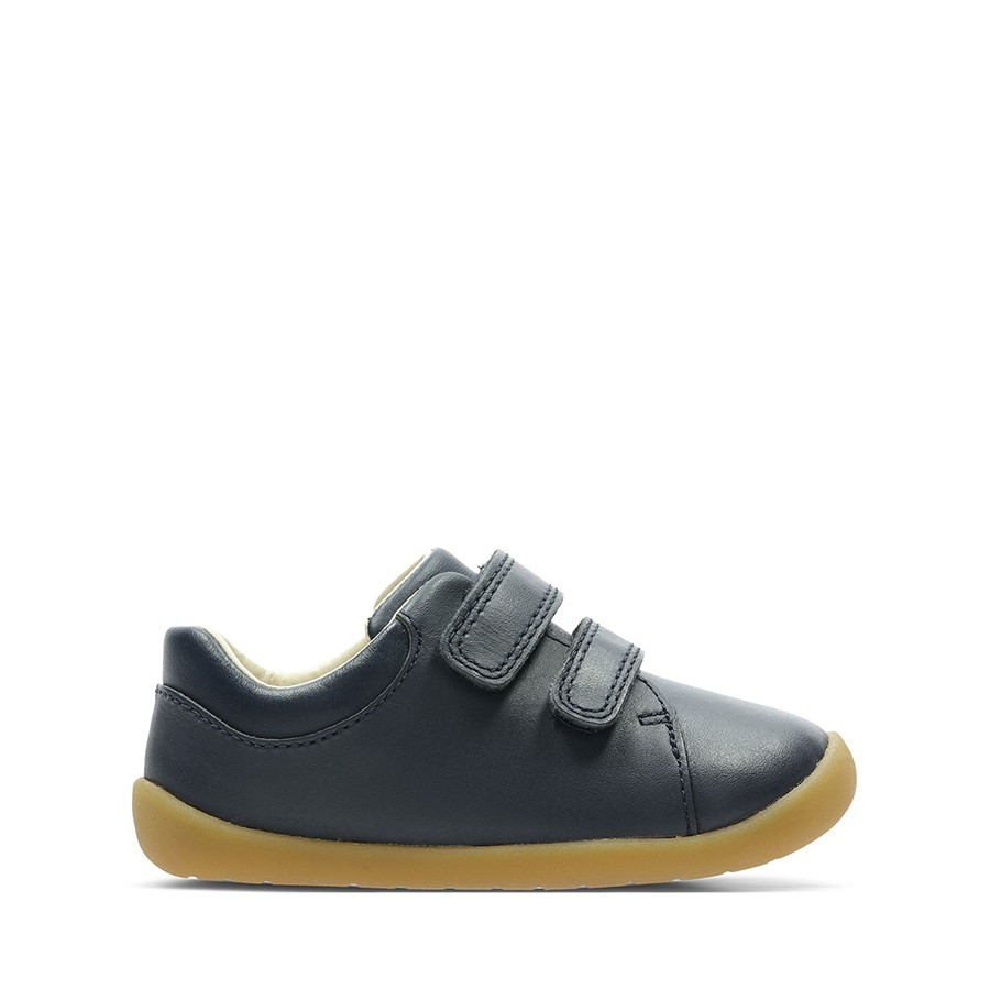 Clarks Roamer Craft T Navy Leather